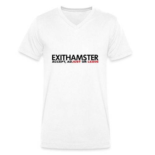 EXITHAMSTER JUST LEAVE png - Men's Organic V-Neck T-Shirt by Stanley & Stella