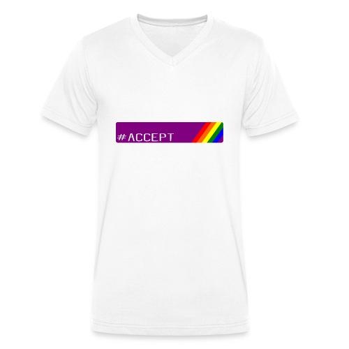 79 accept - Männer Bio-T-Shirt mit V-Ausschnitt von Stanley & Stella