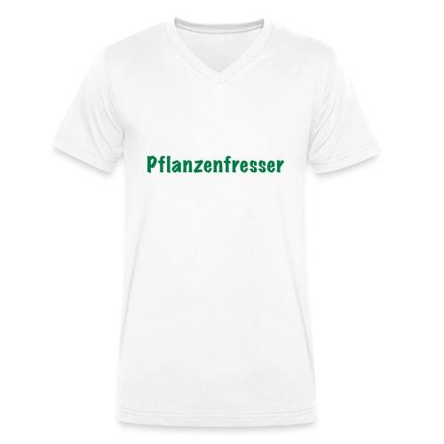 Pflanzenfresser - Männer Bio-T-Shirt mit V-Ausschnitt von Stanley & Stella