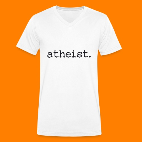 atheist BLACK - Men's Organic V-Neck T-Shirt by Stanley & Stella