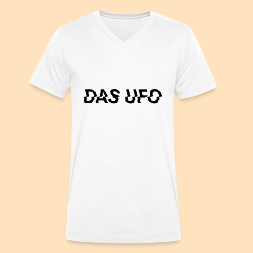 DAS UFO // Typography - Männer Bio-T-Shirt mit V-Ausschnitt von Stanley & Stella