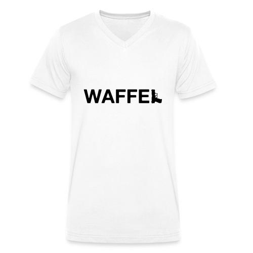 Waffel Waffe - Männer Bio-T-Shirt mit V-Ausschnitt von Stanley & Stella