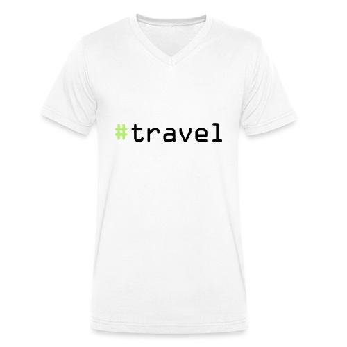 #travel - Männer Bio-T-Shirt mit V-Ausschnitt von Stanley & Stella