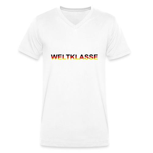 Weltklasse - Männer Bio-T-Shirt mit V-Ausschnitt von Stanley & Stella