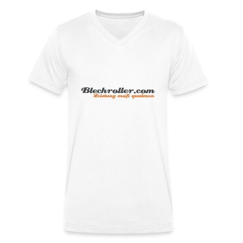 blechroller logo - Männer Bio-T-Shirt mit V-Ausschnitt von Stanley & Stella