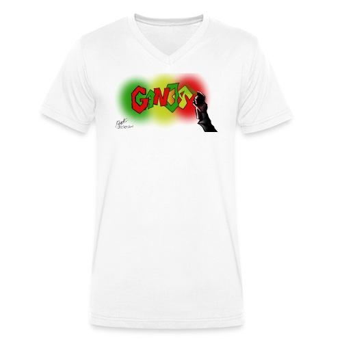 Ganja - Økologisk Stanley & Stella T-shirt med V-udskæring til herrer