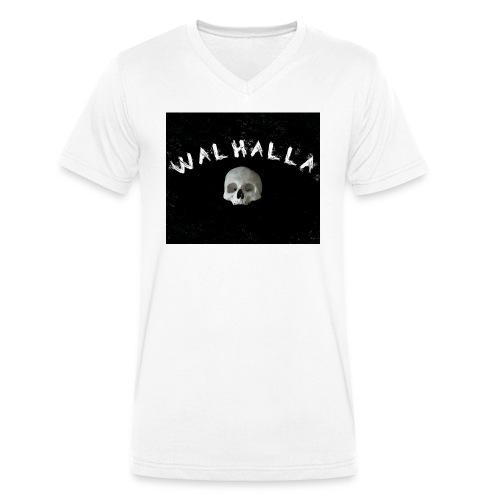 WALHALLA SCULL MOTIV FASHION WIKINGER - Männer Bio-T-Shirt mit V-Ausschnitt von Stanley & Stella