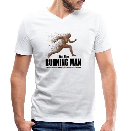 I am the Running Man - Sportswear for real men - Men's Organic V-Neck T-Shirt by Stanley & Stella