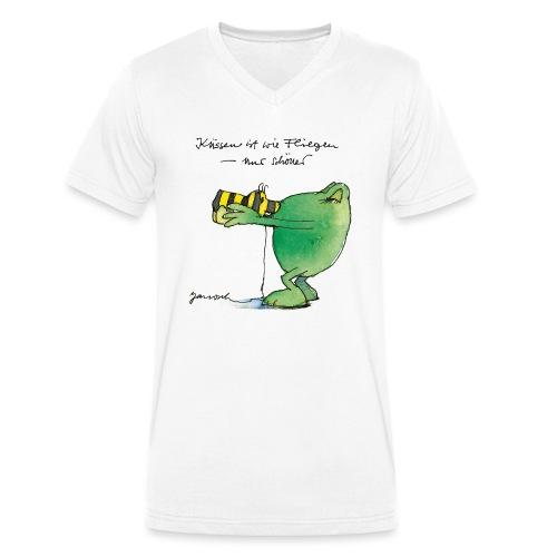 Janosch Frosch 'Küssen ist wie ...' - Männer Bio-T-Shirt mit V-Ausschnitt von Stanley & Stella