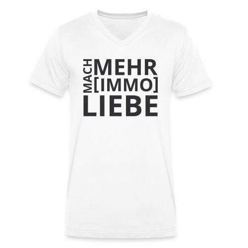 Mach mehr [Immo] Liebe! - Männer Bio-T-Shirt mit V-Ausschnitt von Stanley & Stella