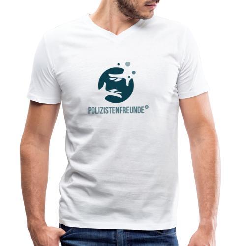 Polizistenfreunde.de Beratung Design - Männer Bio-T-Shirt mit V-Ausschnitt von Stanley & Stella