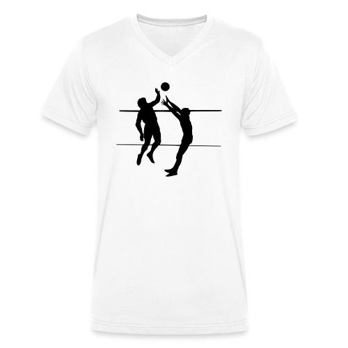 Volleybal Wedstrijd 1C - Mannen bio T-shirt met V-hals van Stanley & Stella