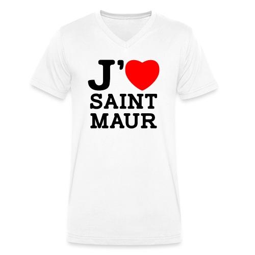 J'aime Saint-Maur ! - T-shirt bio col V Stanley & Stella Homme