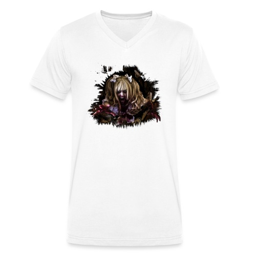 Zombie Mia - Männer Bio-T-Shirt mit V-Ausschnitt von Stanley & Stella