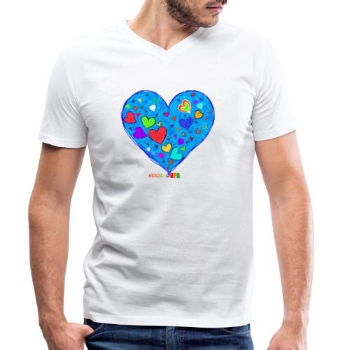 HerzensOpa - Männer Bio-T-Shirt mit V-Ausschnitt von Stanley & Stella