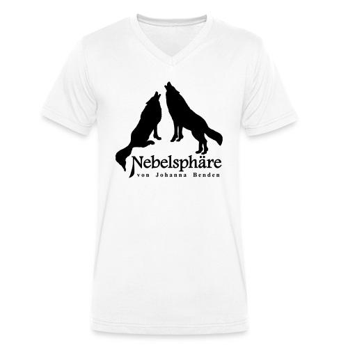 Wölfe Nebelsphäre - Männer Bio-T-Shirt mit V-Ausschnitt von Stanley & Stella