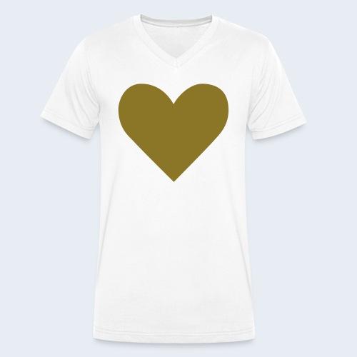 Heart - Mannen bio T-shirt met V-hals van Stanley & Stella
