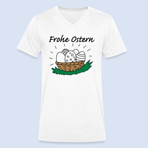 Eierkorb Oster Design - Frohe Ostern - Männer Bio-T-Shirt mit V-Ausschnitt von Stanley & Stella