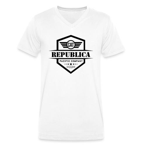 REPUBLICA CATALANA ELEGANT - Camiseta ecológica hombre con cuello de pico de Stanley & Stella
