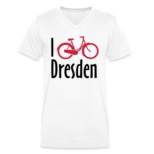 I Bike Dresden - Hollandrad - Männer Bio-T-Shirt mit V-Ausschnitt von Stanley & Stella