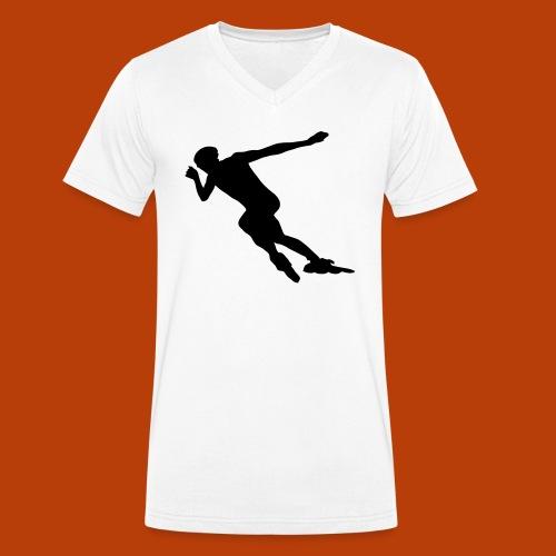 Speedskater - Männer Bio-T-Shirt mit V-Ausschnitt von Stanley & Stella