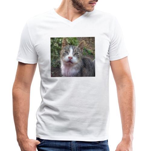 Katze Max - Männer Bio-T-Shirt mit V-Ausschnitt von Stanley & Stella