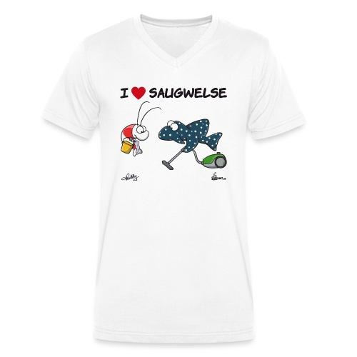 Saugwels - Männer Bio-T-Shirt mit V-Ausschnitt von Stanley & Stella