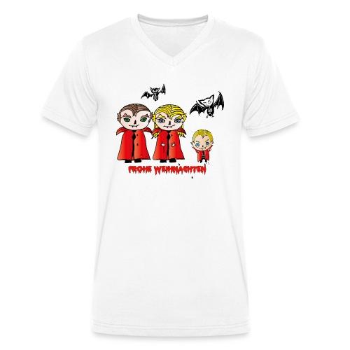 Frohe Weihnachten - Männer Bio-T-Shirt mit V-Ausschnitt von Stanley & Stella