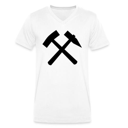 RVB - Schlägel + Eisen - Männer Bio-T-Shirt mit V-Ausschnitt von Stanley & Stella