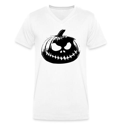 Jack-o'-lantern - Men's Organic V-Neck T-Shirt by Stanley & Stella