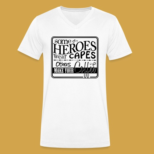 coffeeprint8F - Økologisk Stanley & Stella T-shirt med V-udskæring til herrer