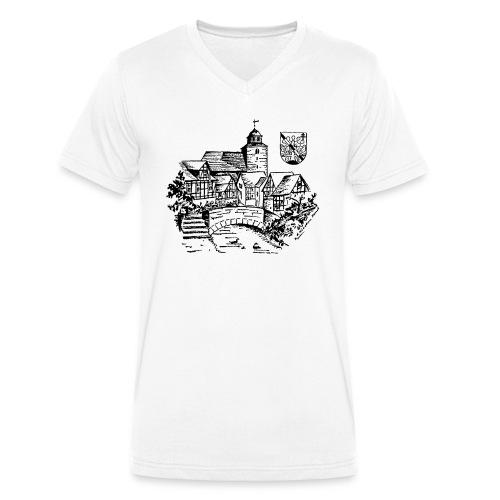 Ronshausen historisch - Männer Bio-T-Shirt mit V-Ausschnitt von Stanley & Stella