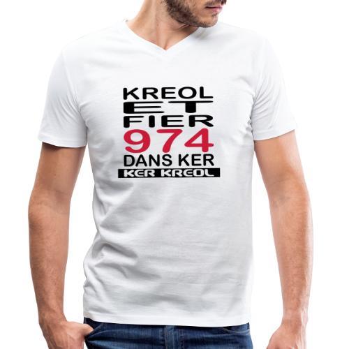 fier et kreol hom 02 ti - T-shirt bio col V Stanley & Stella Homme
