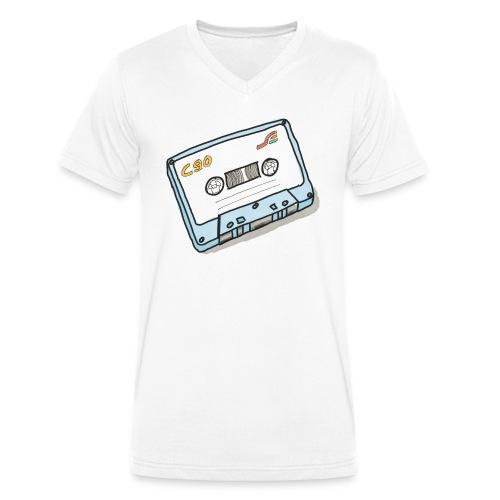 Cassette - Männer Bio-T-Shirt mit V-Ausschnitt von Stanley & Stella