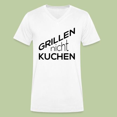 Grillen, nicht Kuchen - Männer Bio-T-Shirt mit V-Ausschnitt von Stanley & Stella