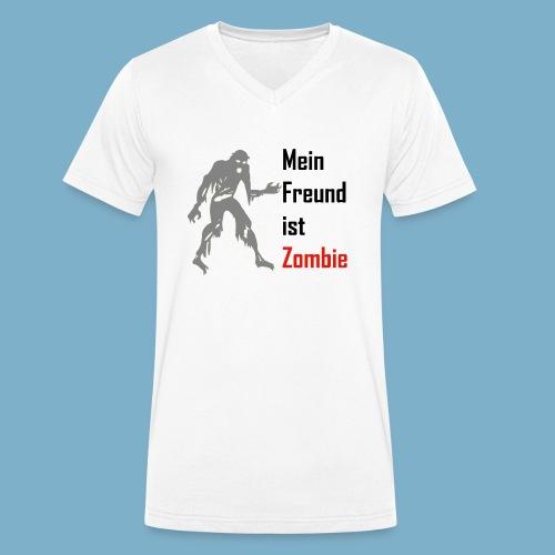 Mein Freund ist Zombie - Männer Bio-T-Shirt mit V-Ausschnitt von Stanley & Stella