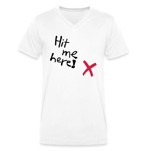Hit me! - Männer Bio-T-Shirt mit V-Ausschnitt von Stanley & Stella