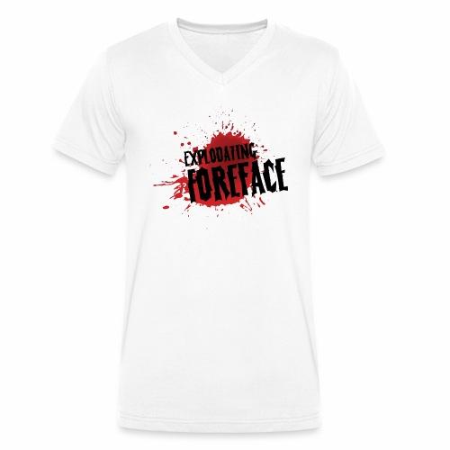 Eplodating Foreface - Men's Organic V-Neck T-Shirt by Stanley & Stella