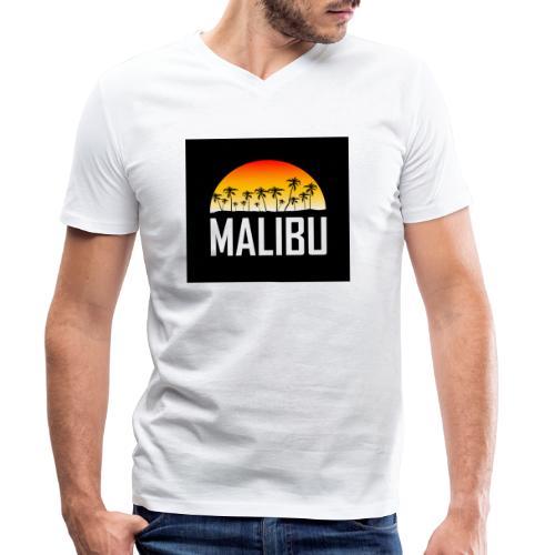 Malibu Nights - Men's Organic V-Neck T-Shirt by Stanley & Stella