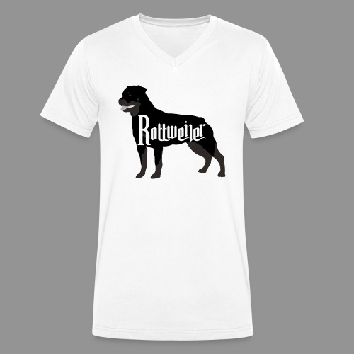 Rottweiler - Men's Organic V-Neck T-Shirt by Stanley & Stella