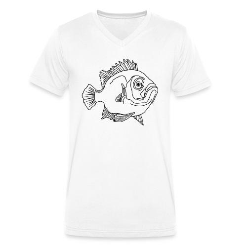 Fische Barsche Ozean Meerwasser Aquarium Angeln - Men's Organic V-Neck T-Shirt by Stanley & Stella