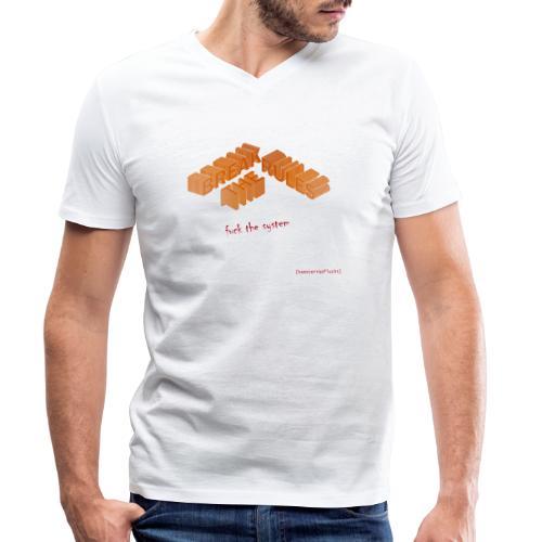 BREAK THE RULES - Männer Bio-T-Shirt mit V-Ausschnitt von Stanley & Stella