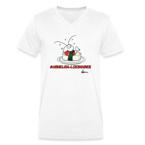 garnelenliebhaber - Männer Bio-T-Shirt mit V-Ausschnitt von Stanley & Stella