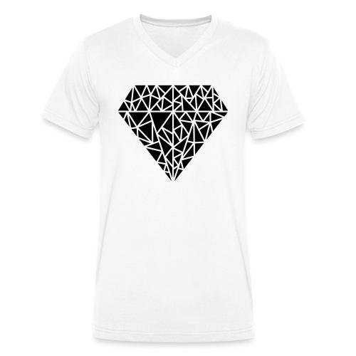 Triangle Love - Männer Bio-T-Shirt mit V-Ausschnitt von Stanley & Stella