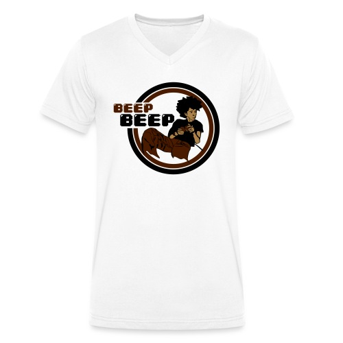 Beep Beep Gamer - Men's Organic V-Neck T-Shirt by Stanley & Stella