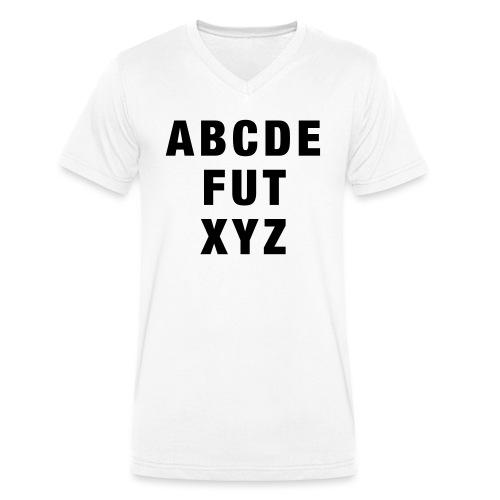 ABCDEFUTXYZ - Männer Bio-T-Shirt mit V-Ausschnitt von Stanley & Stella