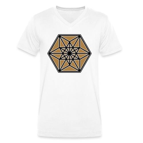 Kuboktaeder, Buckminster Fuller, Heilige Geometrie - Männer Bio-T-Shirt mit V-Ausschnitt von Stanley & Stella