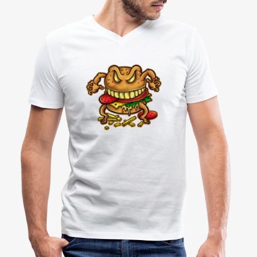 La malédiction du burger - T-shirt bio col V Stanley & Stella Homme