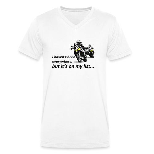 it's on my list... (zwei Motorräder) - Männer Bio-T-Shirt mit V-Ausschnitt von Stanley & Stella