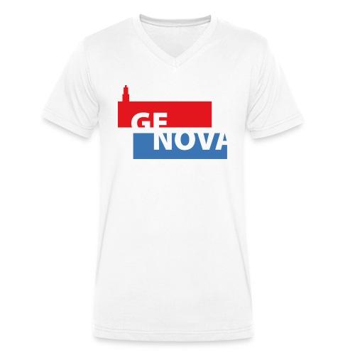GE NOVA - T-shirt ecologica da uomo con scollo a V di Stanley & Stella